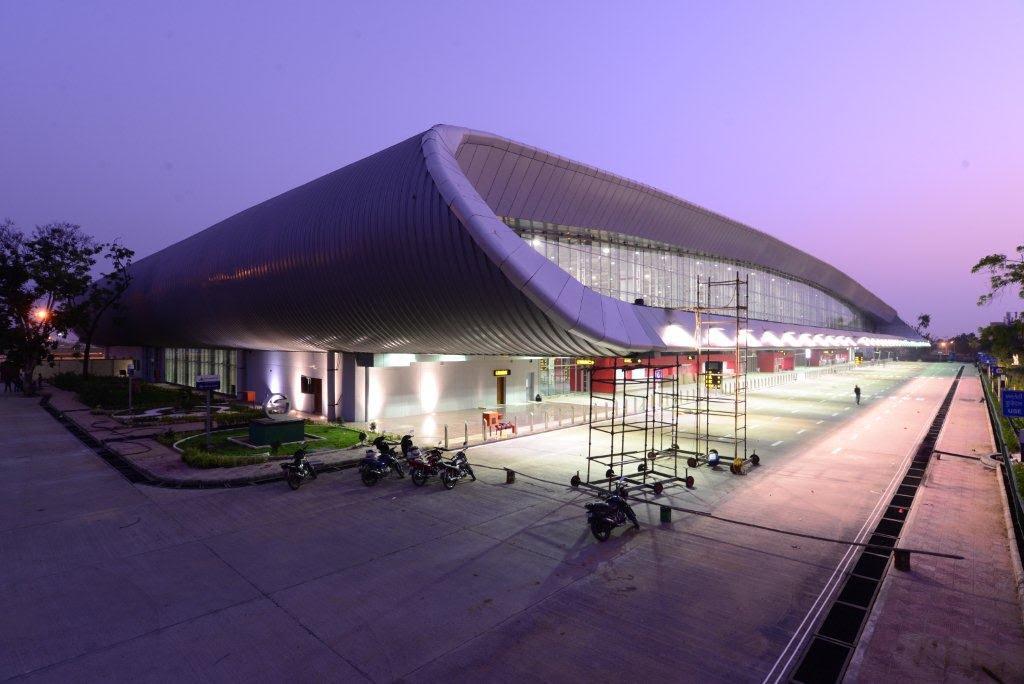 Vadodara: Presented here are the photographs of new Vadodara airport ...