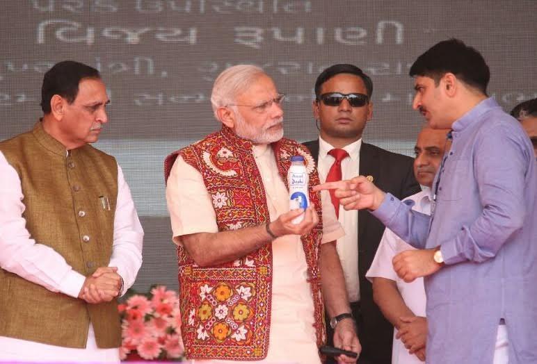 PM launched desi cow milk in PET bottle