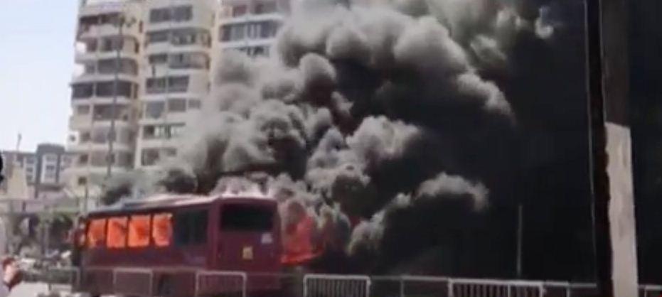 BRTS bus catches fire in Surat, passengers unhurt