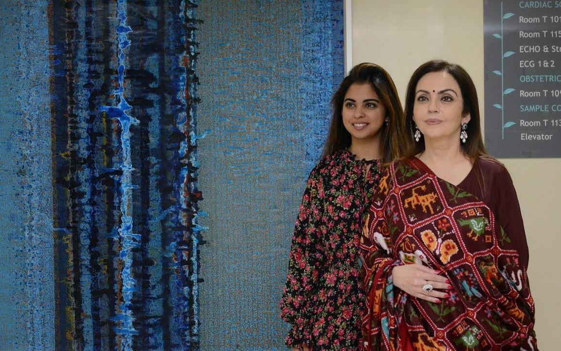 Isha Ambani unveils the Reliance Foundation 'Holistic Healing' Art project in Mumbai