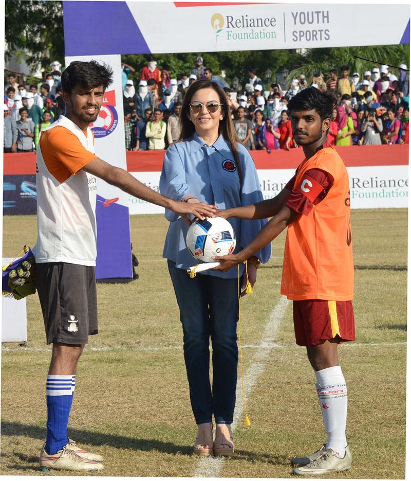 Nita Ambani launches RFYS football Ahmedabad leg, conveys wishes to India U17 team