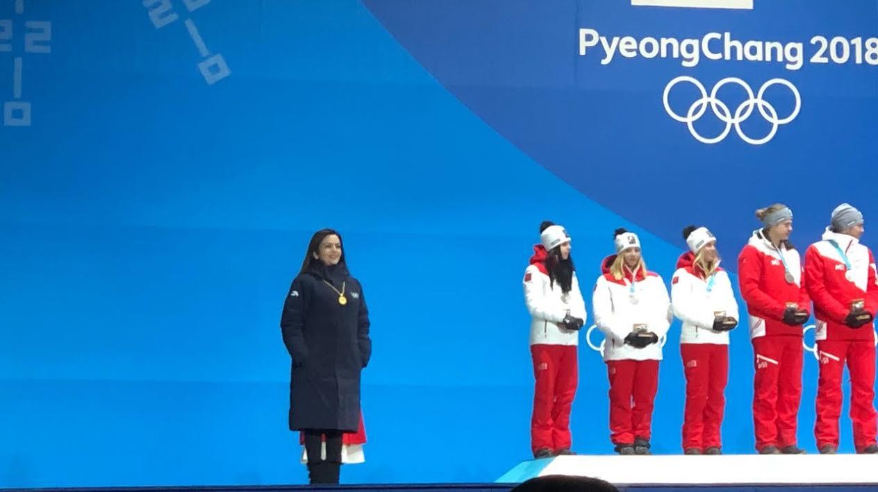 Nita Ambani Presents Inaugural Alpine Skiing Awards at 2018 Winter Olympics