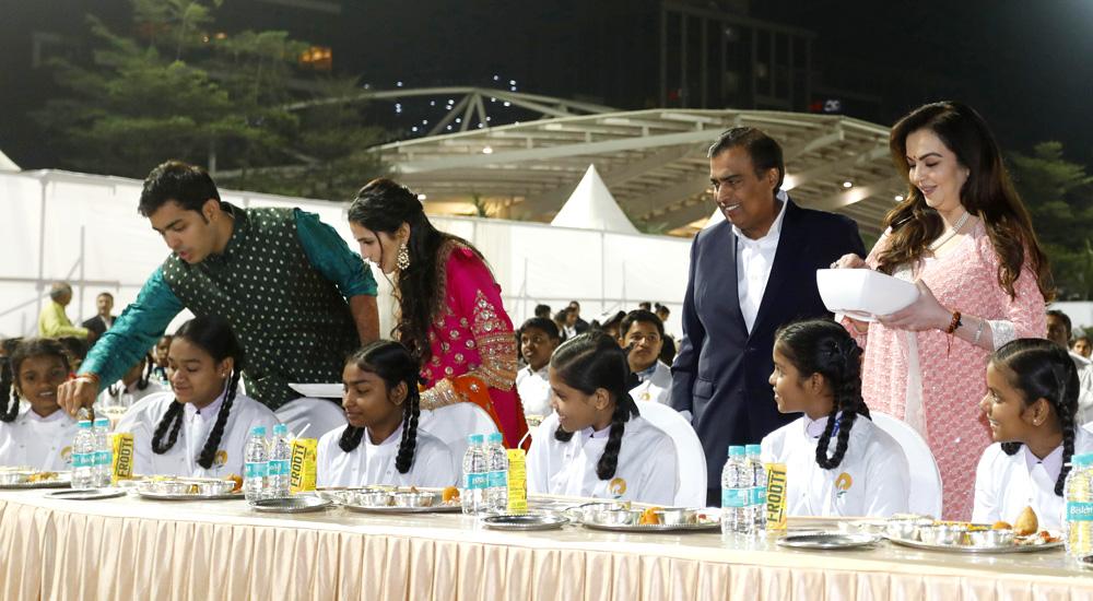 Ambanis start week-long Ann Seva programme ahead of Akash-Shloka wedding